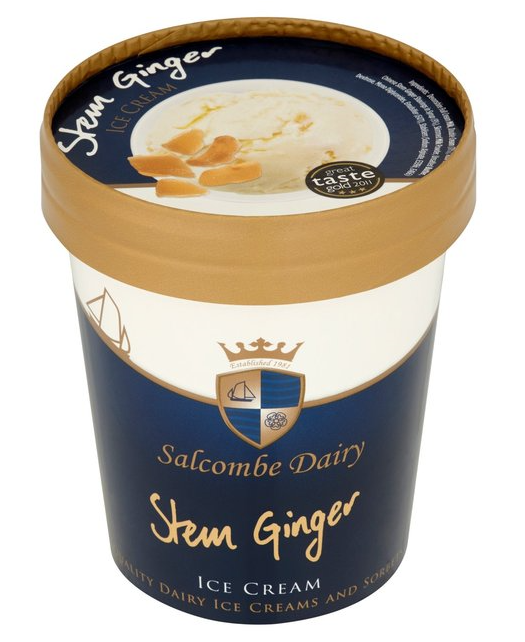 Stem Ginger Ice Cream 500ml